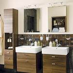 атрактивни шкафове за баня естествен фурнир най-нови