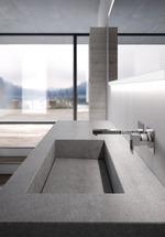 топкачествени шкафове за баня с плот камък По поръчка