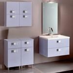 свежи шкафове за баня с плот камък нестандартни