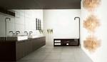 висококласни шкафове за баня естествен фурнир с красив дизайн