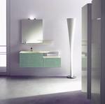 солидни  шкафове за баня естествен фурнир влагоустойчиви