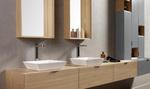 приятни шкафове за баня естествен фурнир авторски дизайн