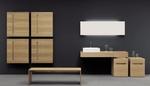 атрактивни шкафове за баня дървесен цвят най-нови