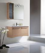 превъзходни шкафове за баня дървесен цвят съвременни