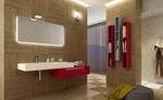 шкафове за баня с чекмеджета модернистични
