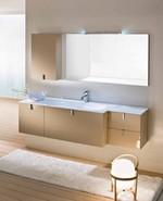 солидни  шкафове за баня с чекмеджета