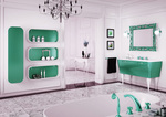 модернистични  кръгли шкафове за баня