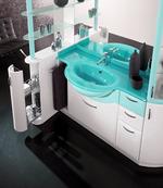 солидни  кръгли шкафове за баня