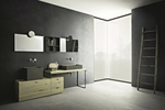 мебели за баня с механизми плавно затваряне модернистични