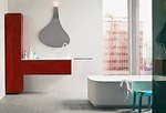 шкафове за баня с механизми блум модернистични