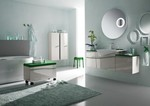 цветни шкафове за баня модернистични