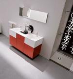 модернистични  шкафове за баня от естествени материал