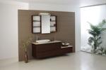 модернистични  шкафове за баня естествен фурнир