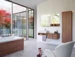 шкафове за баня естествен фурнир модернистични
