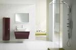 солидни  обли шкафове за баня