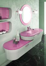 модернистични  обли шкафове за баня