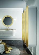 модернистични  кръгли мебели за баня