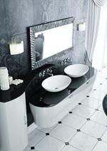солидни  заоблени мебели за баня