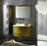 заоблени мебели за баня модернистични