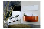 модернистични  заоблени мебели за баня