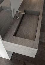 шкафове за баня с плот изкуствен камък модернистични