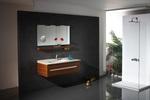 солидни  шкафове за баня естествен фурнир