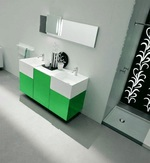модернистични  шкафове за баня по клиентски размер