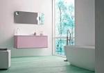 модернистични  шкафове за баня с плот изкуствен камък