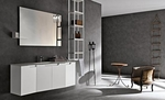 солидни  мебели за баня със стенно монтиране
