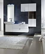 3д проект с визуализация на шкафове за баня модернистични