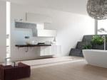 първокласни мебели за баня с разчупени форми