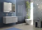 модернистични  мебели за баня с разчупени форми