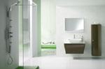 солидни  овални шкафове за баня