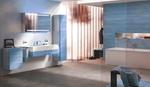модернистични  шкафове за баня дървесен цвят