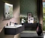 шкафове за баня дървесен цвят солидни