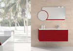 шкафове за баня технически фурнир модернистични