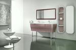 солидни  заоблени шкафове за баня