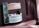 модернистични  заоблени шкафове за баня