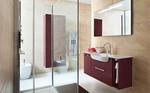 модернистични  3д проект с визуализация на мебели за баня