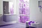 мебели за баня с изчистени форми модернистични