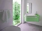 солидни  мебели за баня с изчистени форми