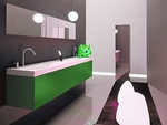 модернистични  мебели за баня мат