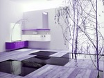 мебели за баня с плот камък солидни