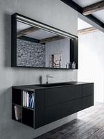 солидни  мебели за баня с плот камък