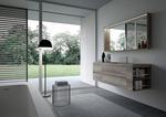 модернистични  мебели за баня с плот камък
