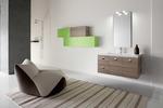 модернистични  мебели за баня дървесен цвят