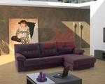 стабилна   ъглова мека мебел с лежанка