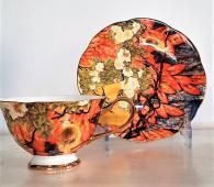Костен порцелан чаша с птичка