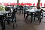 Пластмасова маса за ресторант, за открити пространства