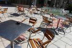 Алуминиева единична маса за заведения за открити пространства
